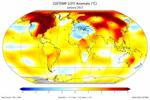 January 2017 Was Third-Warmest January On Record