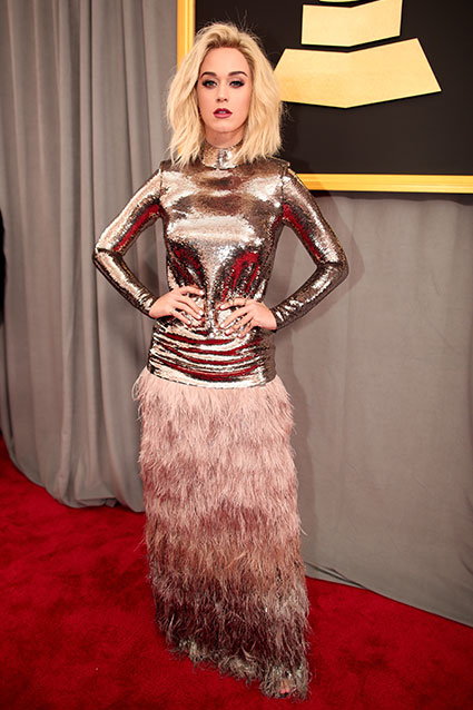 Katy Perry at Grammys 2017 Photo: Getty Images