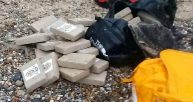 Cocaine Worth $62M has washed up on UK beach