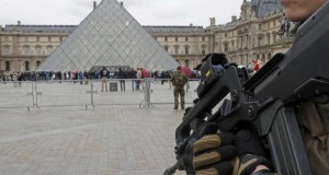 French soldier shoots man with machetes in 'terror attack' near Louvre