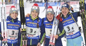 Ukrainian National team wins silver at Biathlon World Cup 2017