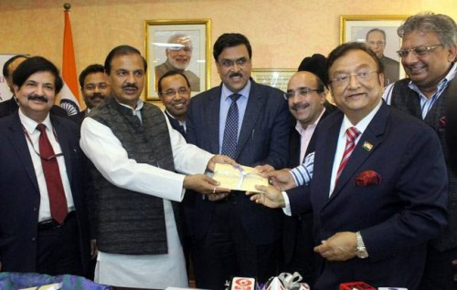 Tourism minister, Dr Mahesh Sharma, at the launch of the new initiative. Picture courtesy:Twitter/incredibleindia