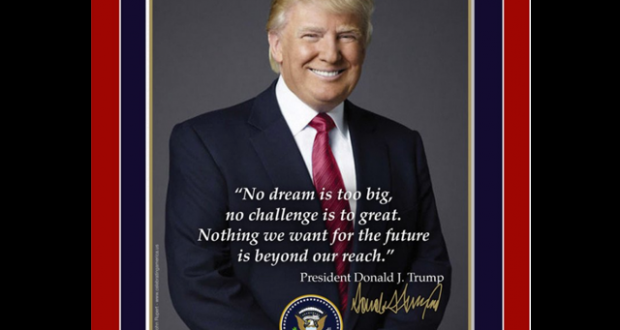 Trump's official inauguration poster has glaring typo