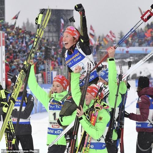 German team AP Photo/Kerstin Joensson