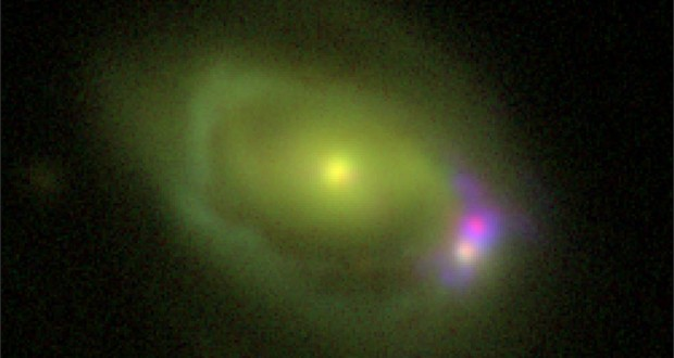 Scientists Puzzled Over Unique Galaxy Merger