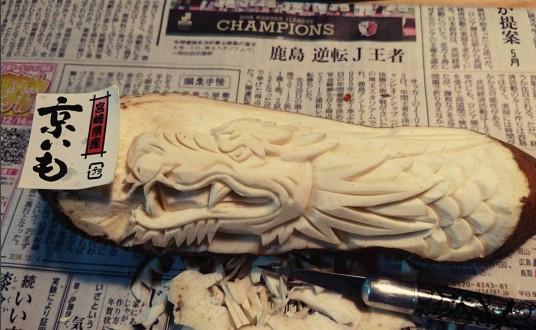 """10 Unbelievable Food Carvings By Japanese Artist """"Gaku"""""""