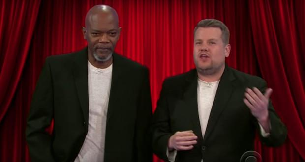 See Samuel L. Jackson Reenact Violent Film Career With James Corden