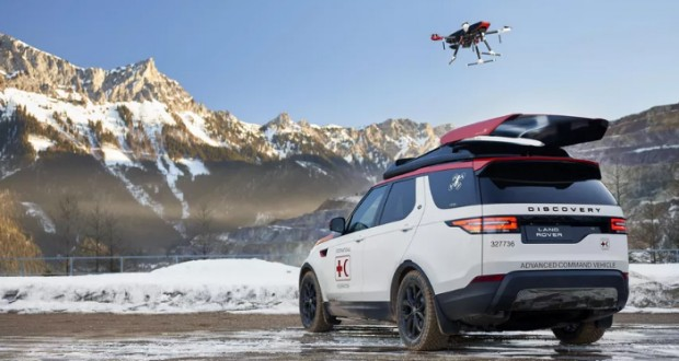 Land Rover has created a special Discovery with a roof-mounted drone