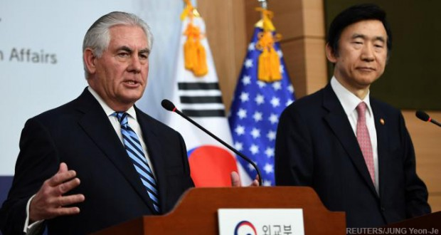Military action on the table in North Korea: U.S. Secretary of State