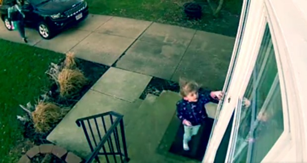 Watch as high winds blow this little Ohio girl off her feet