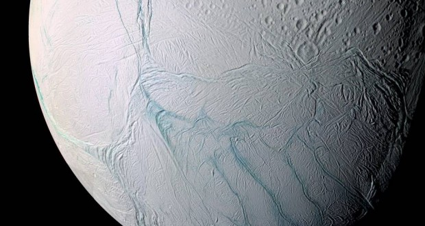 Study Shows Heat Below the Icy Surface of Saturn's Moon Enceladus