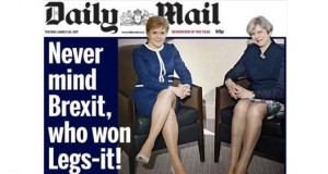 The Daily Mail is getting dragged for its 'Legs-it' front page