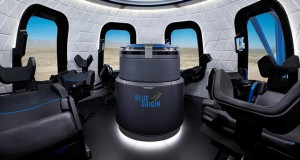 Blue Origin reveals interior of New Shepard flight capsule that will take tourists to into orbit next year