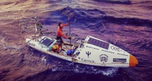A man crossed the Atlantic in the most epic way