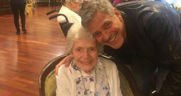 George Clooney surprises 87-year-old fan with birthday flowers, melts hearts