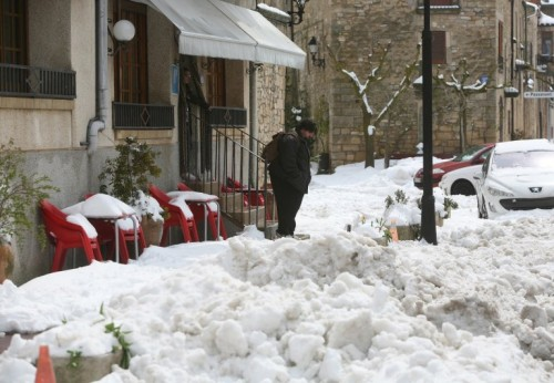 Spring snowfalls in Catalonia