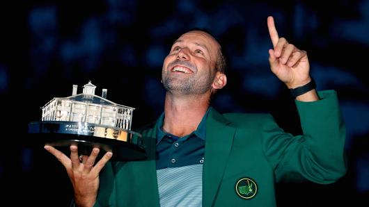 Sergio Garcia finally wins U.S. Masters