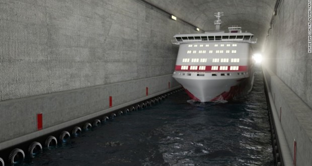 Norway builds world's first ship tunnel