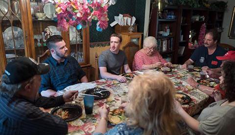 Mark Zuckerberg joins Ohio family for surprise dinner