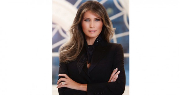 Melania Trump gets glamorous new official portrait