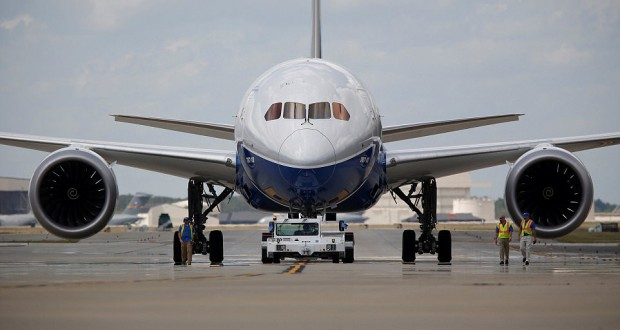 Boeing Dreamliner 787-10 takes to the skies in its first flight test