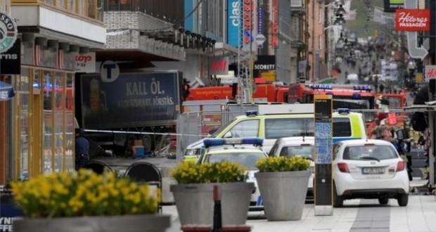 Stockholm lorry rams crowds, killing at least three people