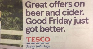 Tesco sorry for Good Friday beer advert
