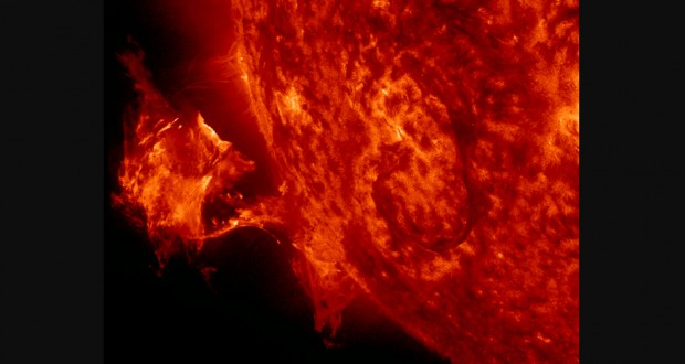 Solar Storms Can Drain Electrical Charge Above Earth
