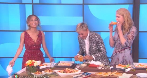 Ellen, Nicole Kidman, and Giada De Laurentiis cook together, but no one has any fun