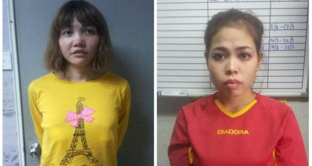 Two women accused of killing North Korea leader's brother Kim Jong-nam