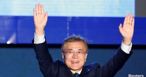 South Korean election: liberal Moon Jae-in claims presidency win