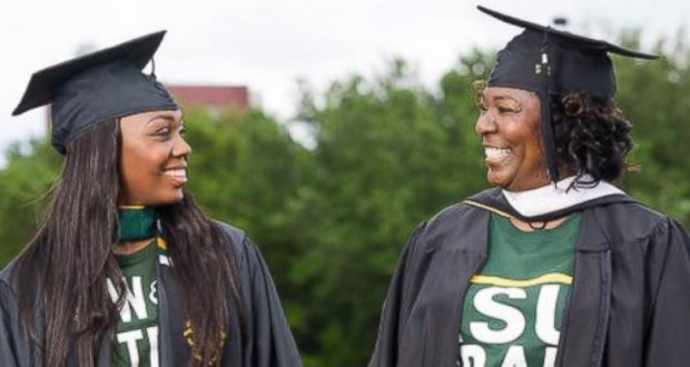 Mother graduates after dropping out more than 30 years ago to care for her daughter