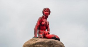 Denmark's 'Little Mermaid' doused in red paint by whaling protesters