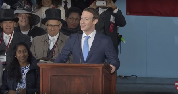 Mark Zuckerberg called on Harvard's graduates to help save the environment and cure all disease