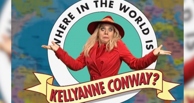 'Saturday Night Live' sketch asks 'Where in the World is Kellyanne Conway?'