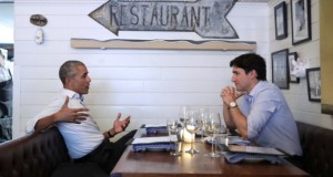 Obama, Trudeau have dinner in Montreal, discuss 'developing the next generation of leaders'