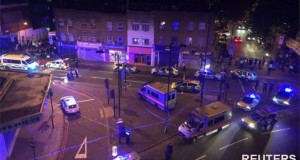 Man dies as van hits worshippers near London mosque