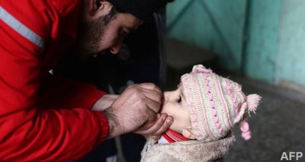 Polio paralyses 17 children in Syria