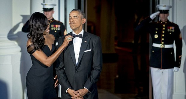 Michelle Obama reveals her husband wore the exact same tuxedo and shoes for eight years