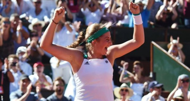 French Open: Jelena Ostapenko beats Simona Halep to win first Grand Slam
