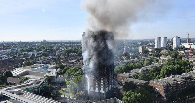 London fire: Crews work through night at tower block
