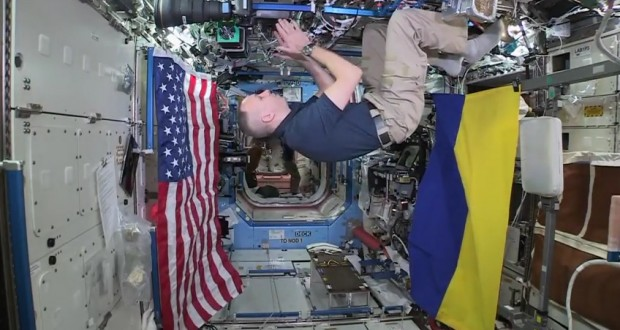 Space Call: International Space Station Commander talks with Ukrainian experts and students
